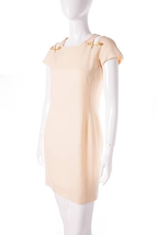Gianni Versace Iconic Gold Medusa 1994 Safety Pin Shift Dress 4