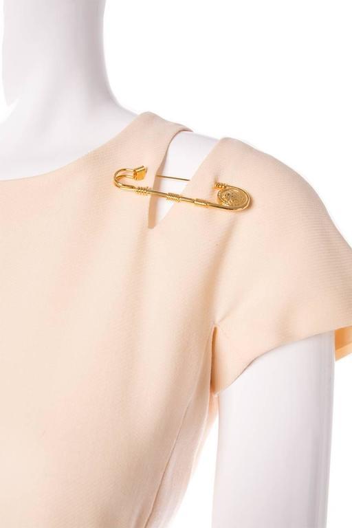 Gianni Versace Iconic Gold Medusa 1994 Safety Pin Shift Dress 5