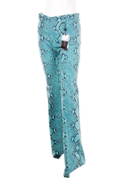 Tom Ford Gucci Python Print Flare Pants At 1stdibs