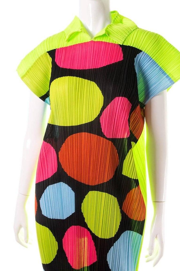 Issey Miyake Pleated Polkadot Dress 2