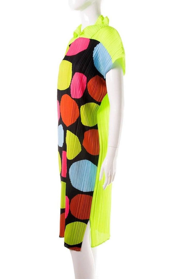Issey Miyake Pleated Polkadot Dress 3