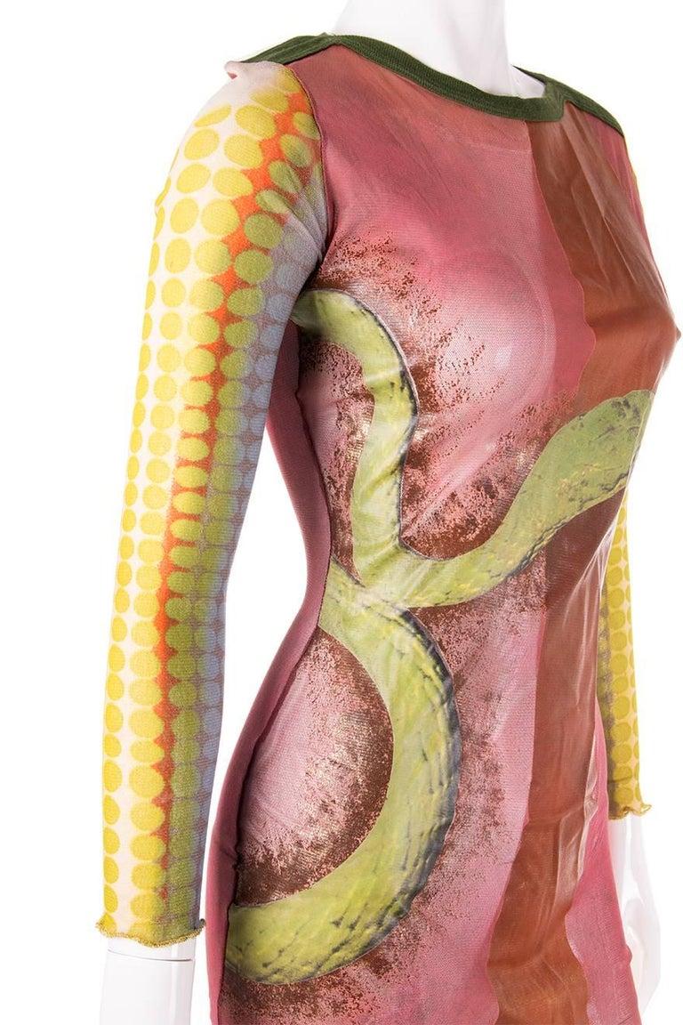 Jean Paul Gaultier Sheer Printed Dress 6