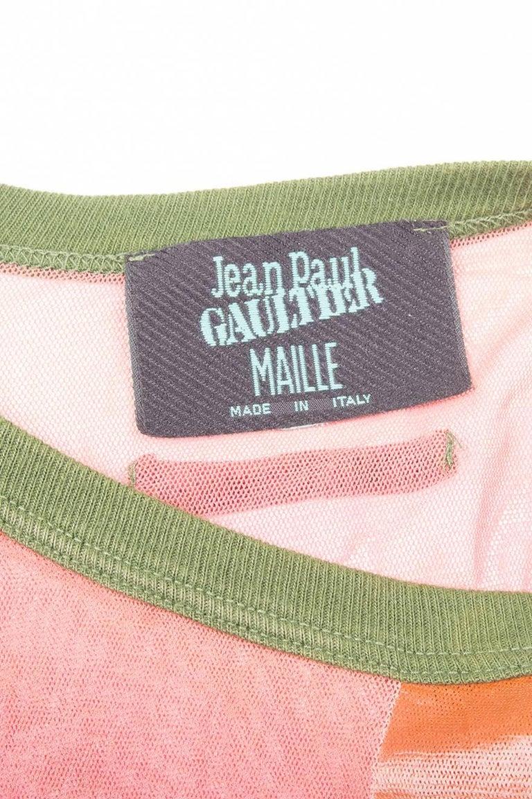 Jean Paul Gaultier Sheer Printed Dress 7