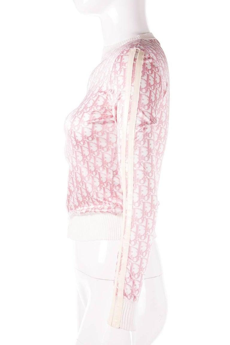 Christian Dior Pink Monogram Zip Up Top 2
