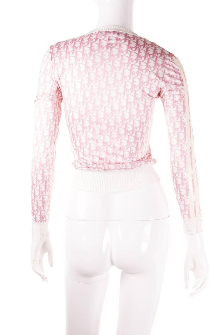 Christian Dior Pink Monogram Zip Up Top 3