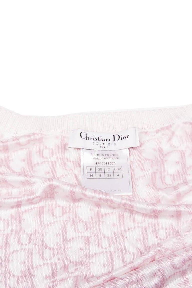 Christian Dior Pink Monogram Zip Up Top 5
