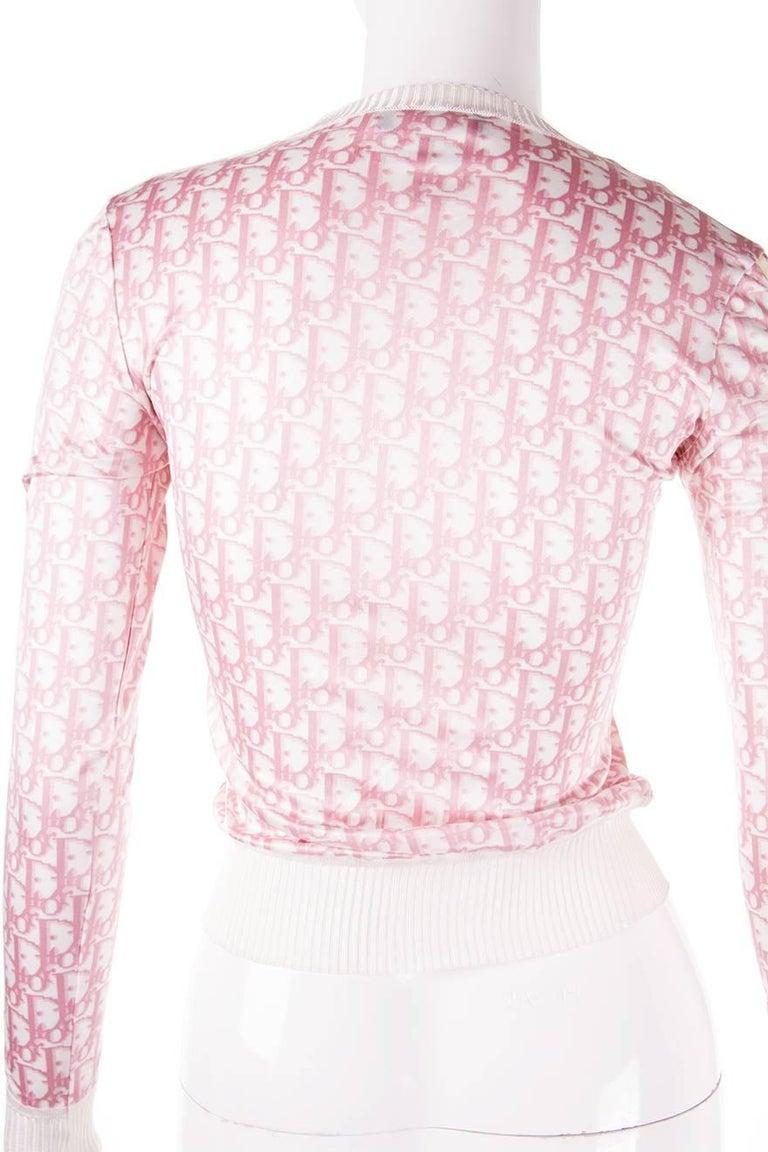Christian Dior Pink Monogram Zip Up Top 6