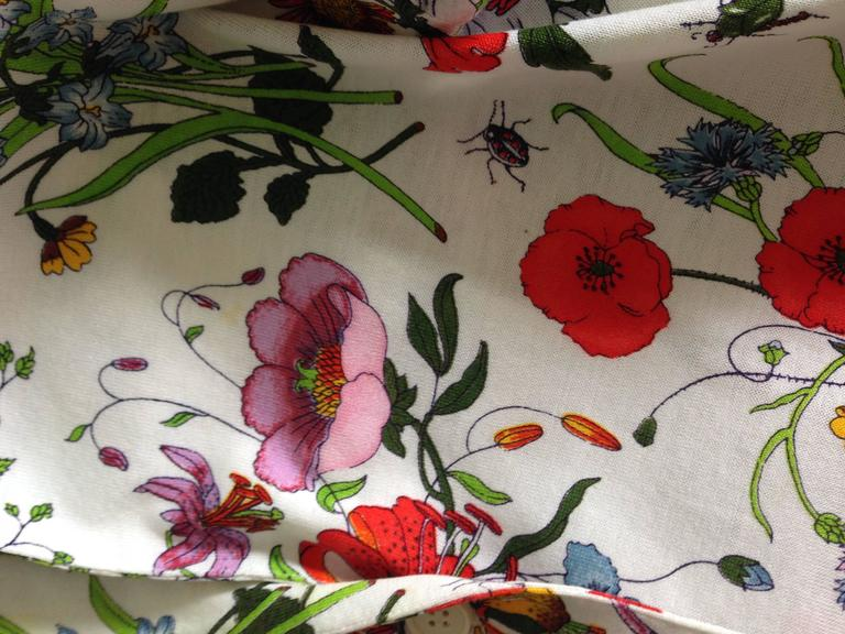 Gucci V. Accornero Iconic Flora Print Shirt 7