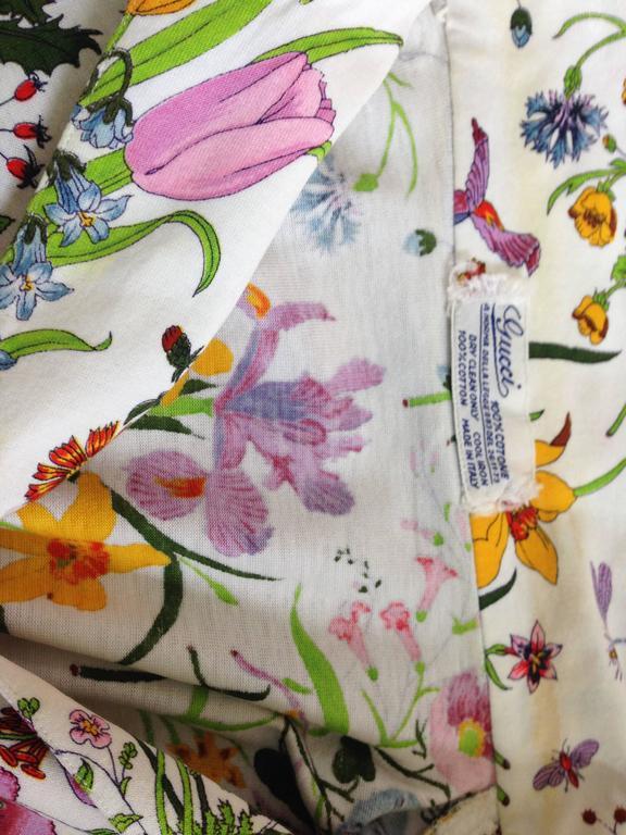 Gucci V. Accornero Iconic Flora Print Shirt 10