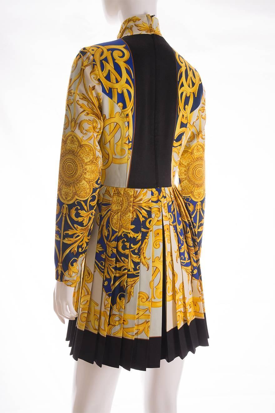 Versus Versace Baroque Print Dress At 1stdibs