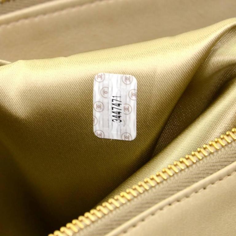 Chanel Overnighter Supermodel Beige Quilted Canvas Shoulder Tote Bag For Sale 5