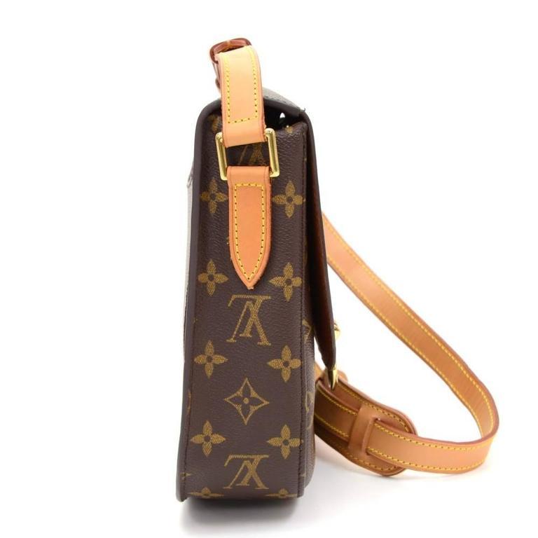 Women's Louis Vuitton Saint Cloud Monogram Canvas Shoulder Bag For Sale