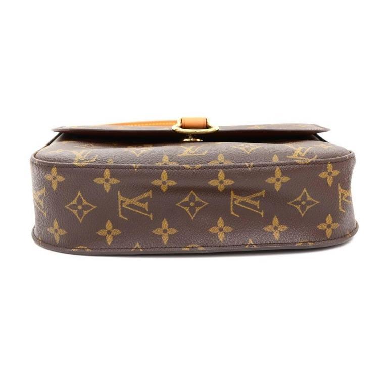 Louis Vuitton Saint Cloud Monogram Canvas Shoulder Bag For Sale 1