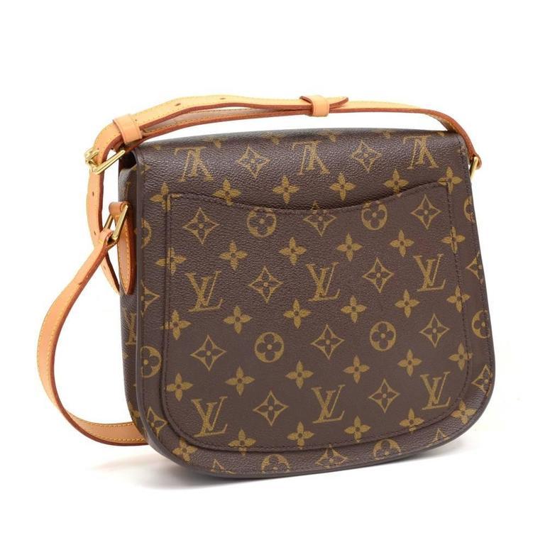 Brown Louis Vuitton Saint Cloud Monogram Canvas Shoulder Bag For Sale