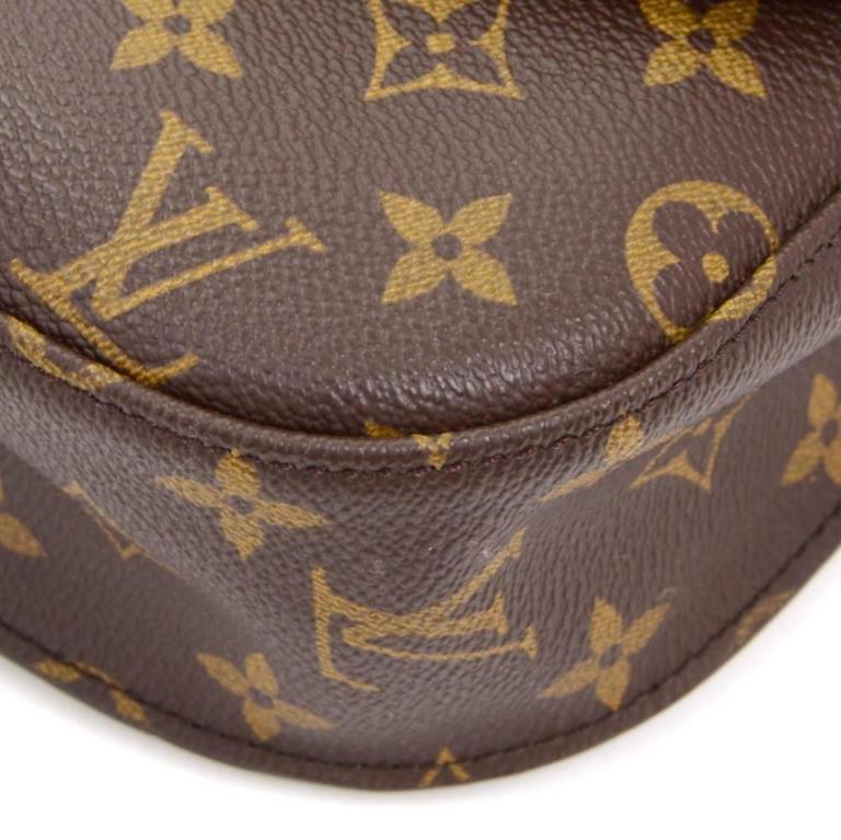 Louis Vuitton Saint Cloud Monogram Canvas Shoulder Bag For Sale 2
