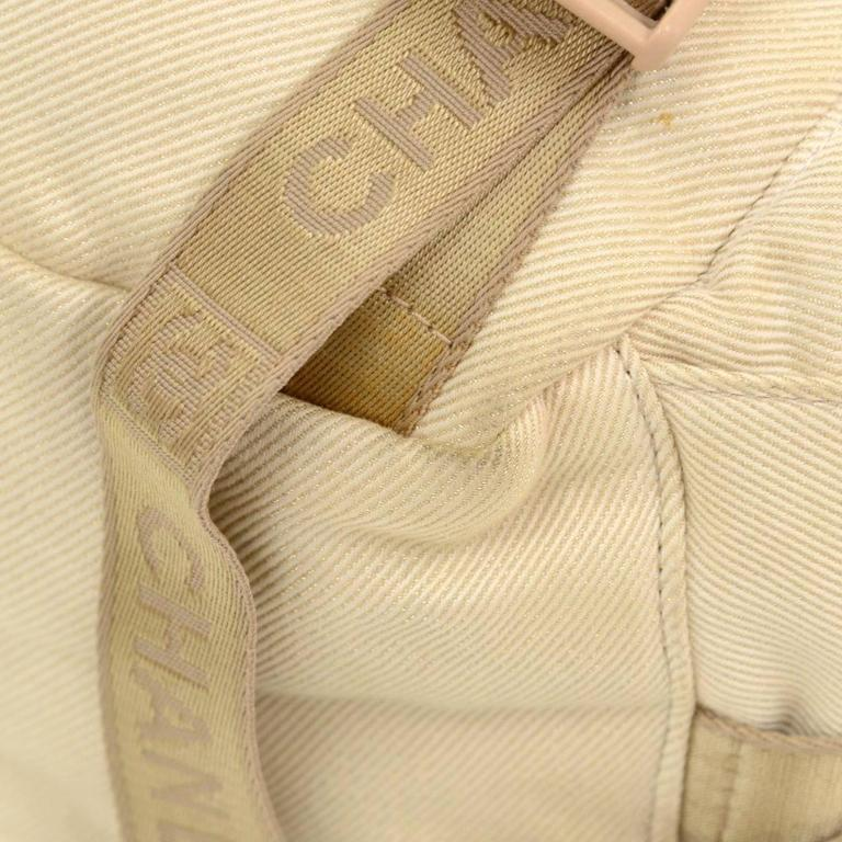 Chanel Sports Line Beige Canvas Backpack Bag 7