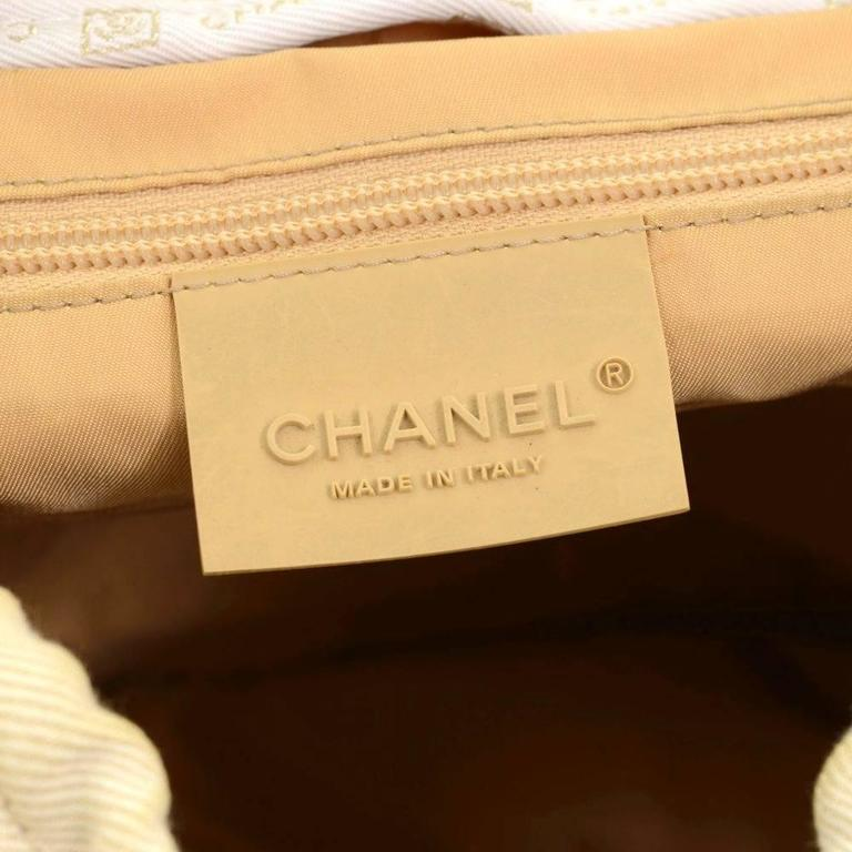 Chanel Sports Line Beige Canvas Backpack Bag 8