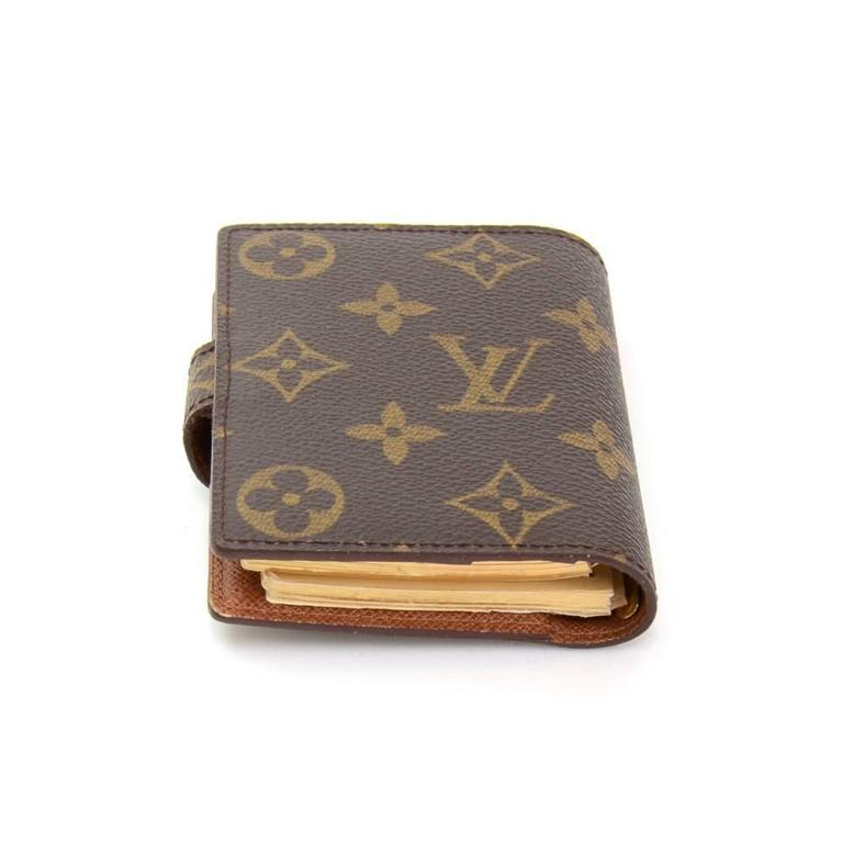 Gucci Belt Serial Number >> Louis Vuitton Monogram Canvas Mini Agenda Cover + Travel Notes at 1stdibs