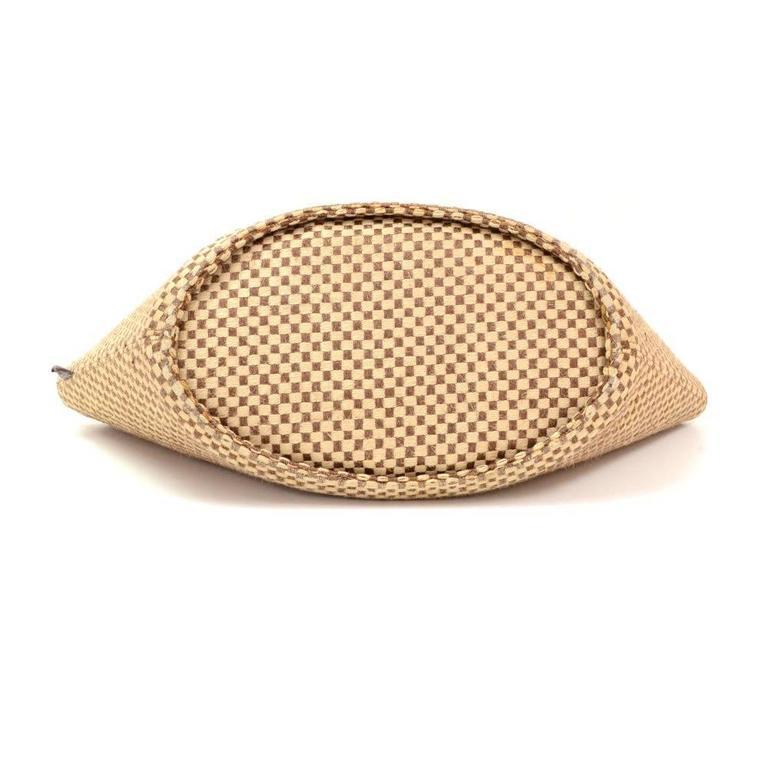 Hermes Beige x Brown Straw Beach Party Tote Bag 6