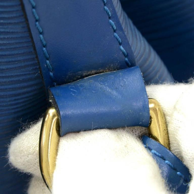 Louis Vuitton Noe Large Blue Epi Leather Shoulder Bag 9