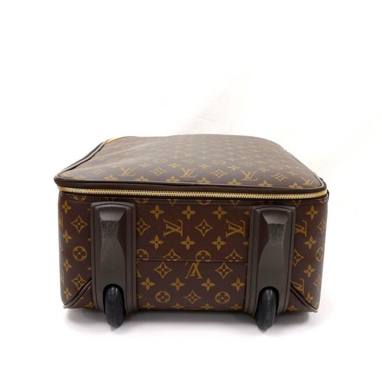 Louis Vuitton Pegase 50 Monogram Canvas Travel Rolling Luggage For Sale 1