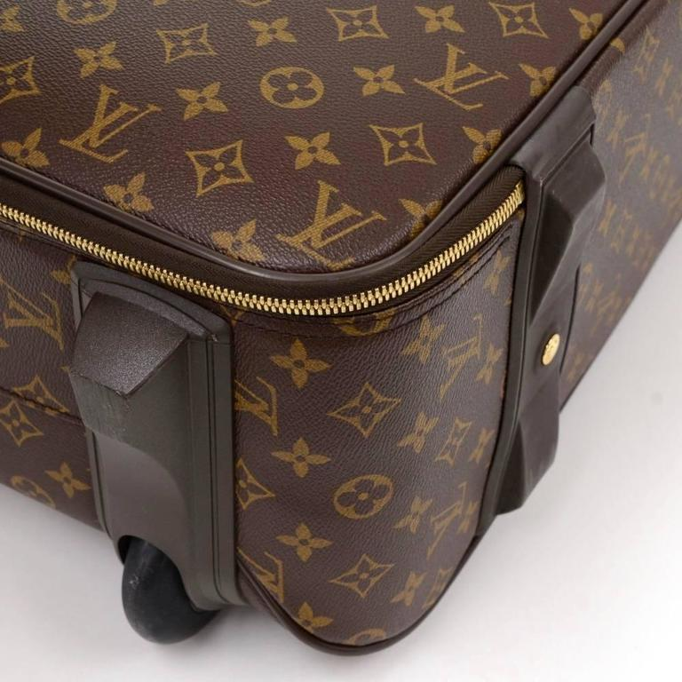 Louis Vuitton Pegase 50 Monogram Canvas Travel Rolling Luggage For Sale 2