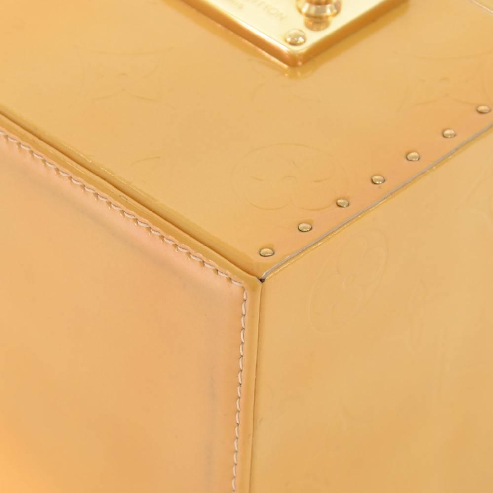 Louis Vuitton Bleeker Yellow Vernis Leather Cosmetic Case