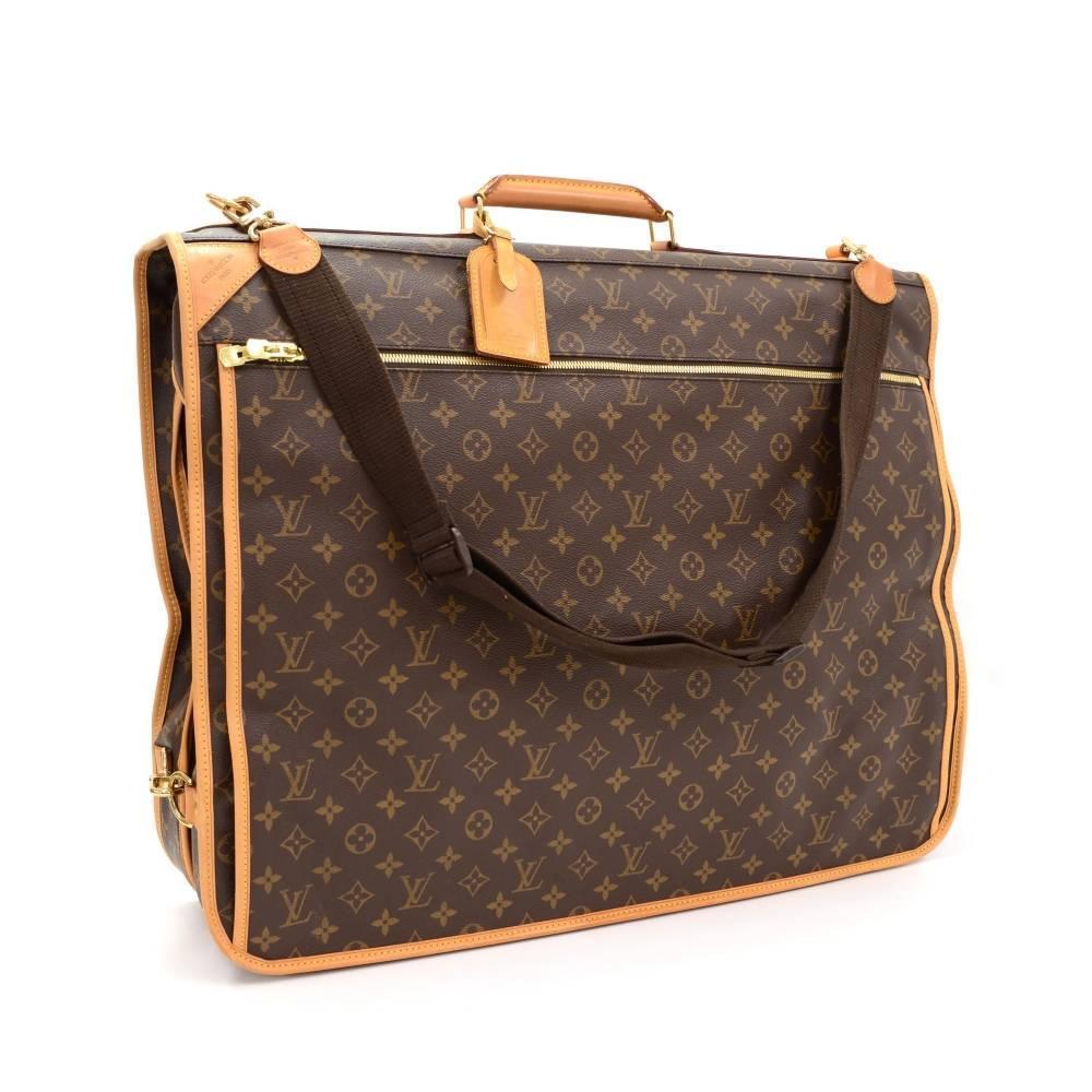 louis vuitton monogram canvas portable bandouliere garment suite travel bag at 1stdibs