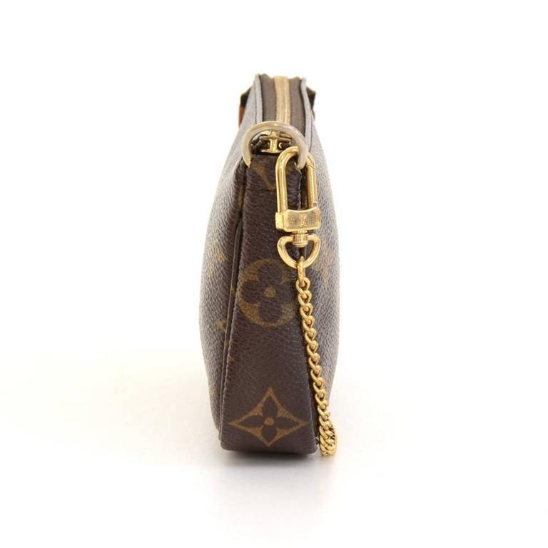 Louis Vuitton Mini Pochette Accessories T&B Monogram Canvas Pouch 4