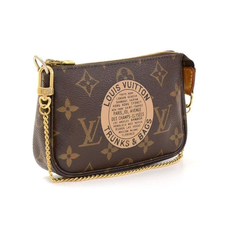 Louis Vuitton Mini Pochette Accessories T&B Monogram Canvas Pouch 2