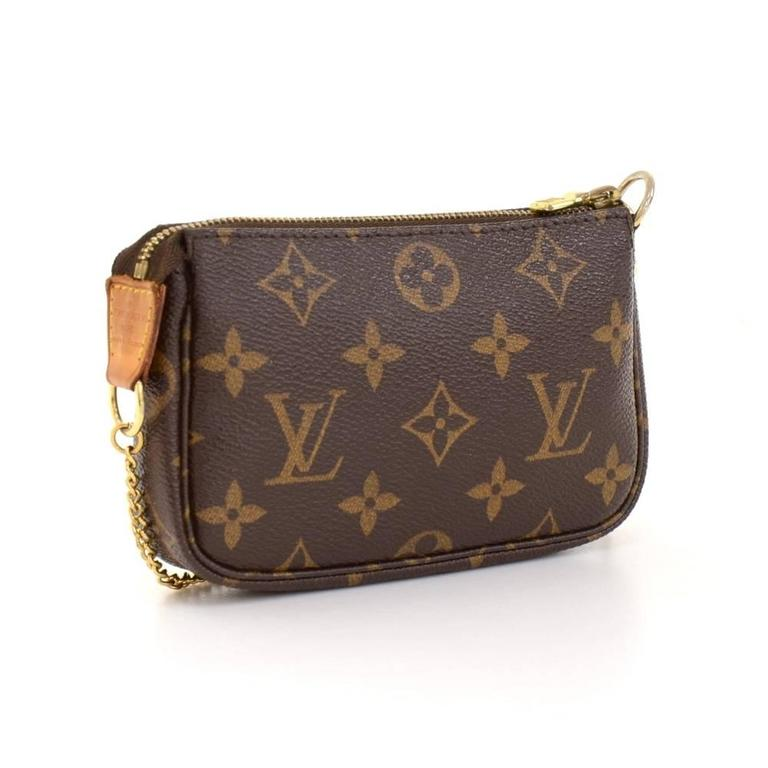 Louis Vuitton Mini Pochette Accessories T&B Monogram Canvas Pouch 3