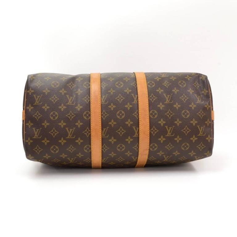 Vintage Louis Vuitton Keepall 45 Bandouliere Monogram Canvas Duffle Travel Bag 6
