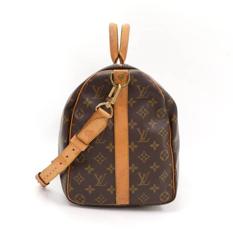 Vintage Louis Vuitton Keepall 45 Bandouliere Monogram Canvas Duffle Travel Bag In Good Condition For Sale In Fukuoka, JP