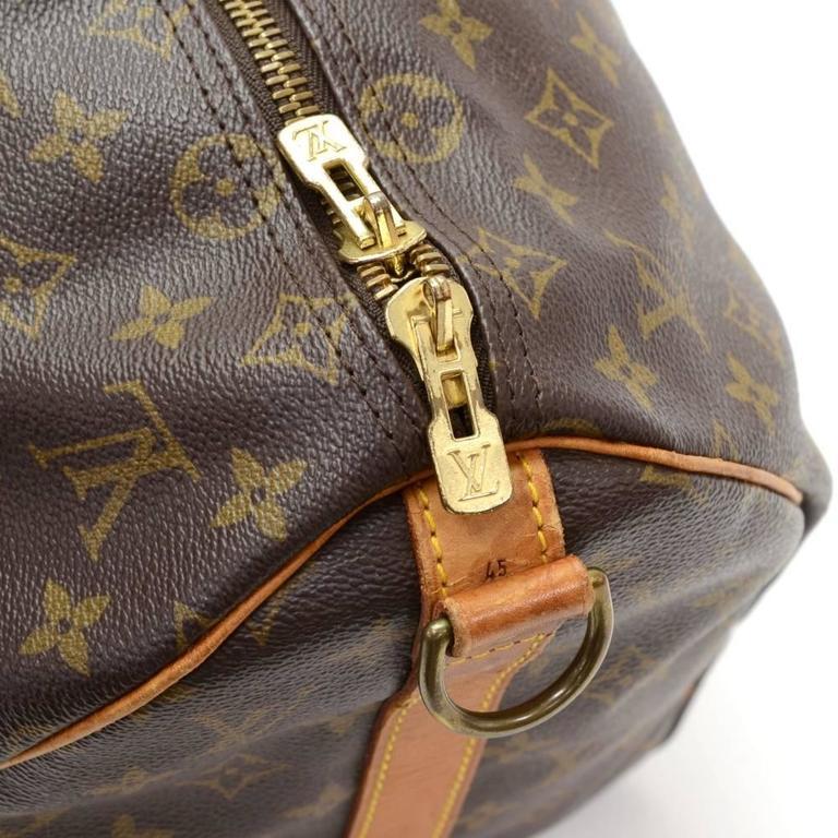 Vintage Louis Vuitton Keepall 45 Bandouliere Monogram Canvas Duffle Travel Bag 8