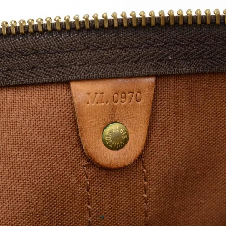 Vintage Louis Vuitton Keepall 45 Bandouliere Monogram Canvas Duffle Travel Bag 9