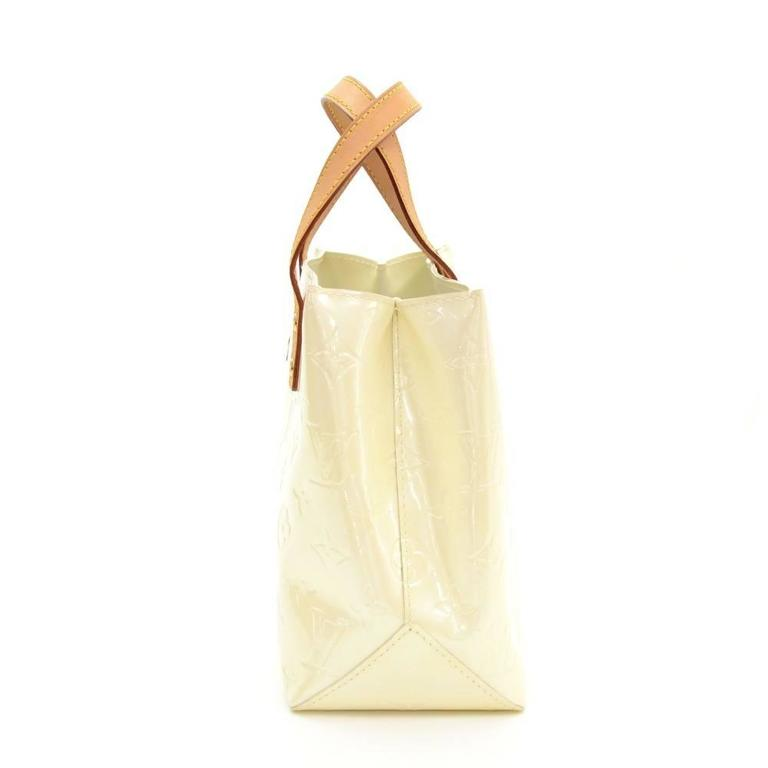 louis vuitton reade pm white vernis leather hand bag at 1stdibs