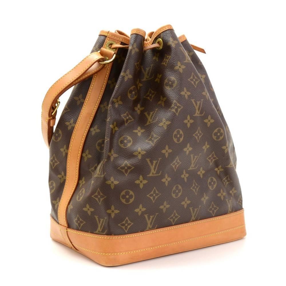 Vintage Louis Vuitton Noe Large Monogram Canvas Shoulder Bag At 1stdibs