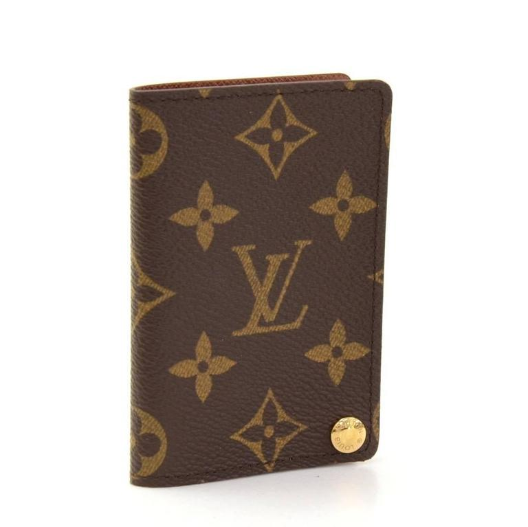 louis vuitton porte cartes credit pression monogram canvas card at 1stdibs