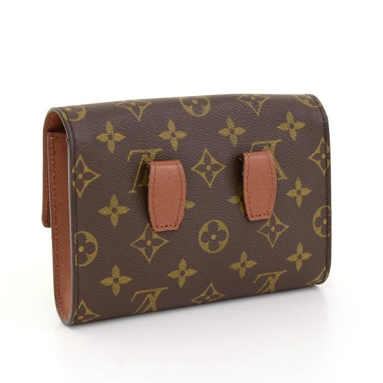 Brown Louis Vuitton Pochette Arche Monogram Canvas Clutch Bag For Sale