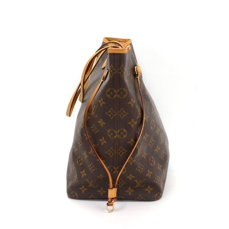 Louis Vuitton Neverfull GM Monogram Canvas Shoulder Tote Bag 4