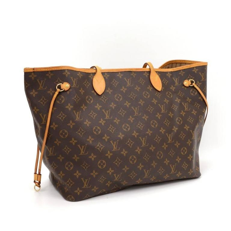 Louis Vuitton Neverfull GM Monogram Canvas Shoulder Tote Bag 3