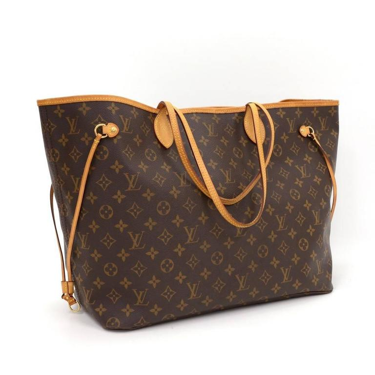 Louis Vuitton Neverfull GM Monogram Canvas Shoulder Tote Bag 2
