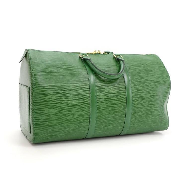 Vintage Louis Vuitton Keepall 50 Green Epi Leather Travel Bag 3