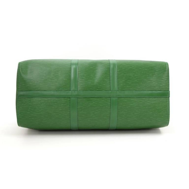 Vintage Louis Vuitton Keepall 50 Green Epi Leather Travel Bag 6