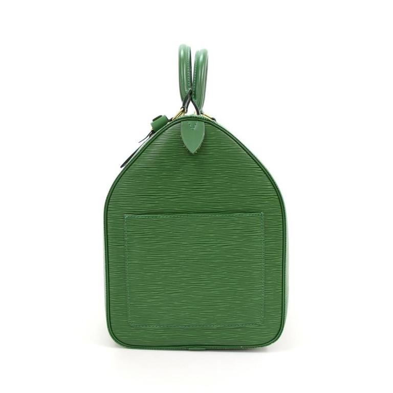 Vintage Louis Vuitton Keepall 50 Green Epi Leather Travel Bag 4