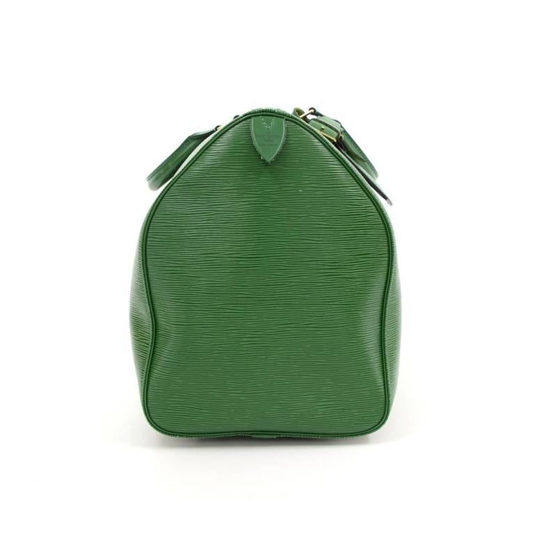 Vintage Louis Vuitton Keepall 50 Green Epi Leather Travel Bag 5
