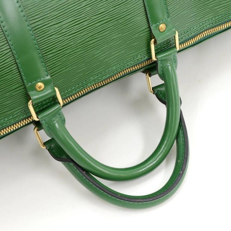 Vintage Louis Vuitton Keepall 50 Green Epi Leather Travel Bag 8