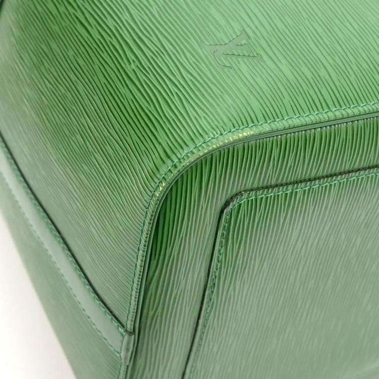 Vintage Louis Vuitton Keepall 50 Green Epi Leather Travel Bag 7
