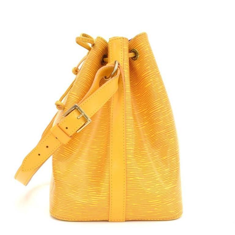 Vintage Louis Vuitton Petit Noe Yellow Epi Leather Shoulder Bag 4