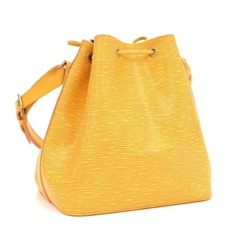 Vintage Louis Vuitton Petit Noe Yellow Epi Leather Shoulder Bag 3